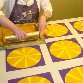 Orange segments printing